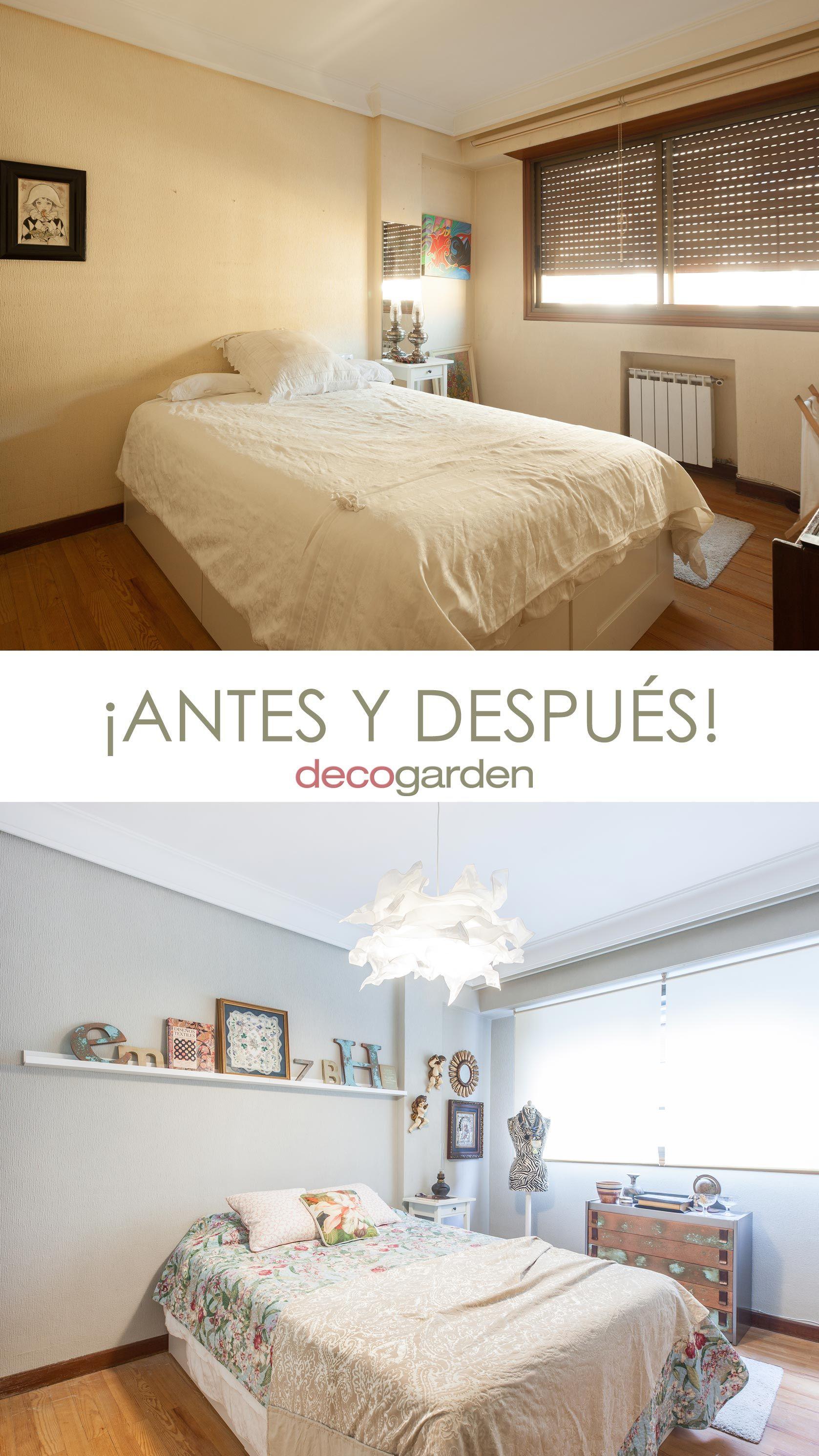 Décorez une chambre romantique - avant et après