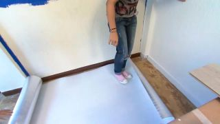 Décorez la chambre des jeunes bleue avec une frise éclairée - étape 3
