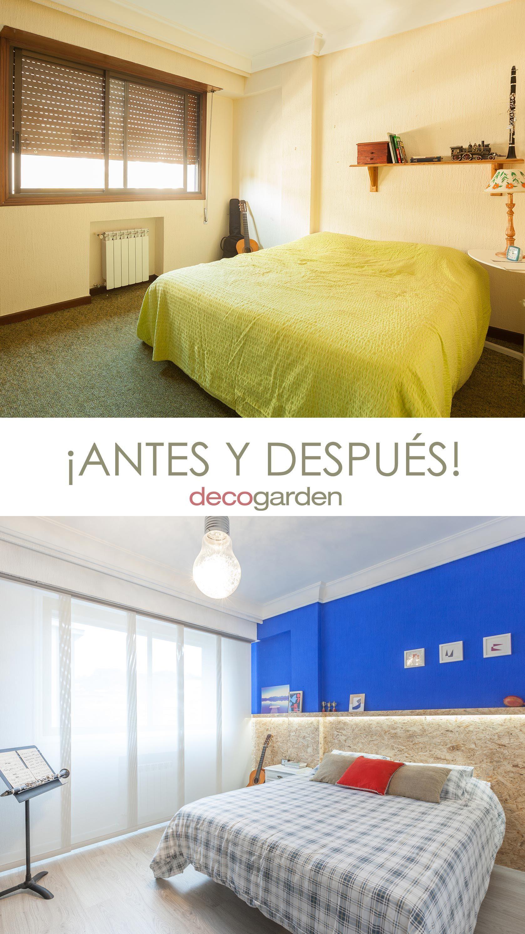 Décorer une chambre de jeunesse bleue - avant et après