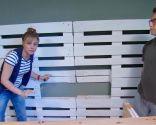 salle des jeunes avec armoire à palettes - étape 3