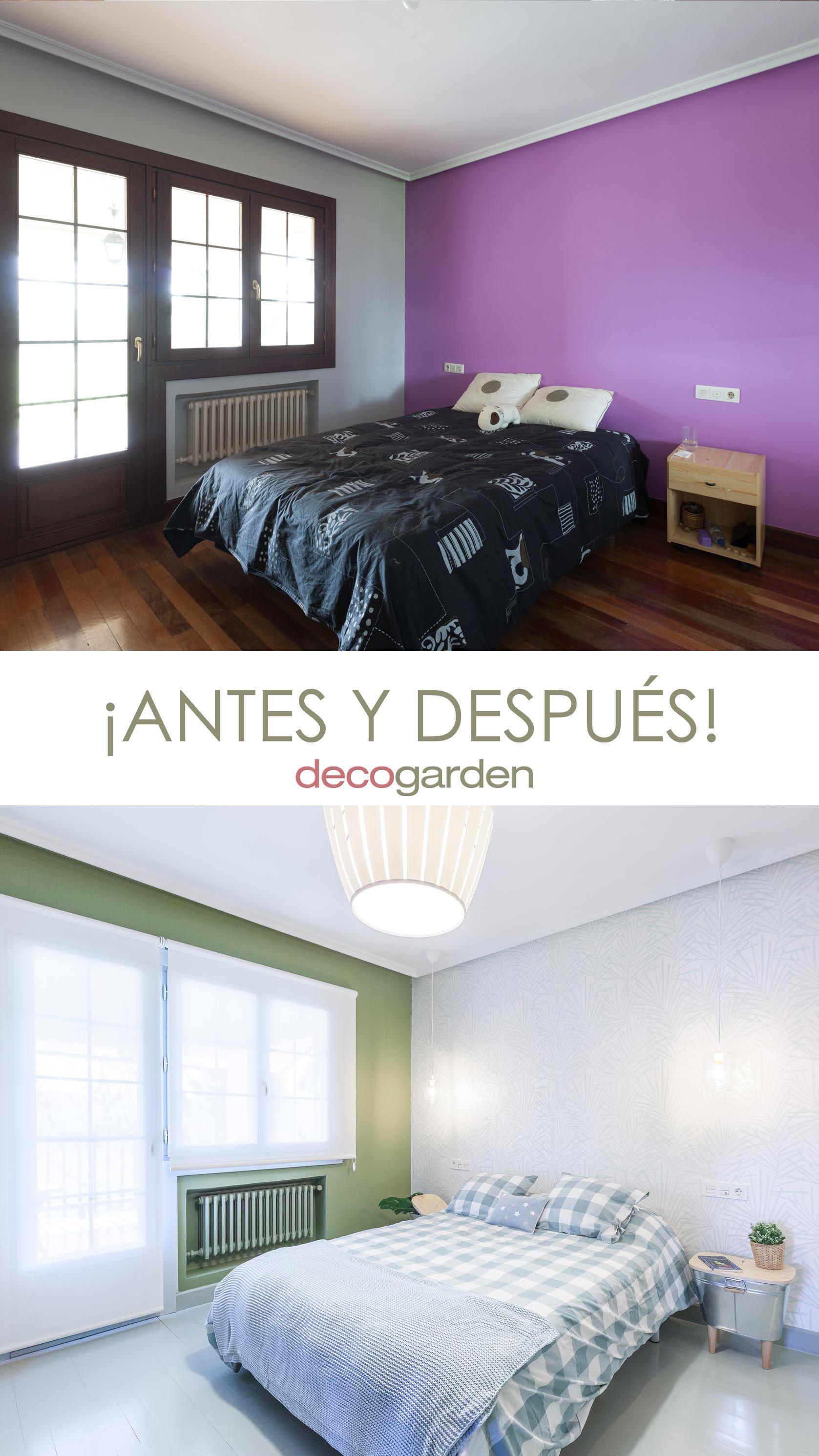 Chambre de style frais et naturel - avant et après