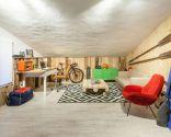 Transformez le loft en salon rustique