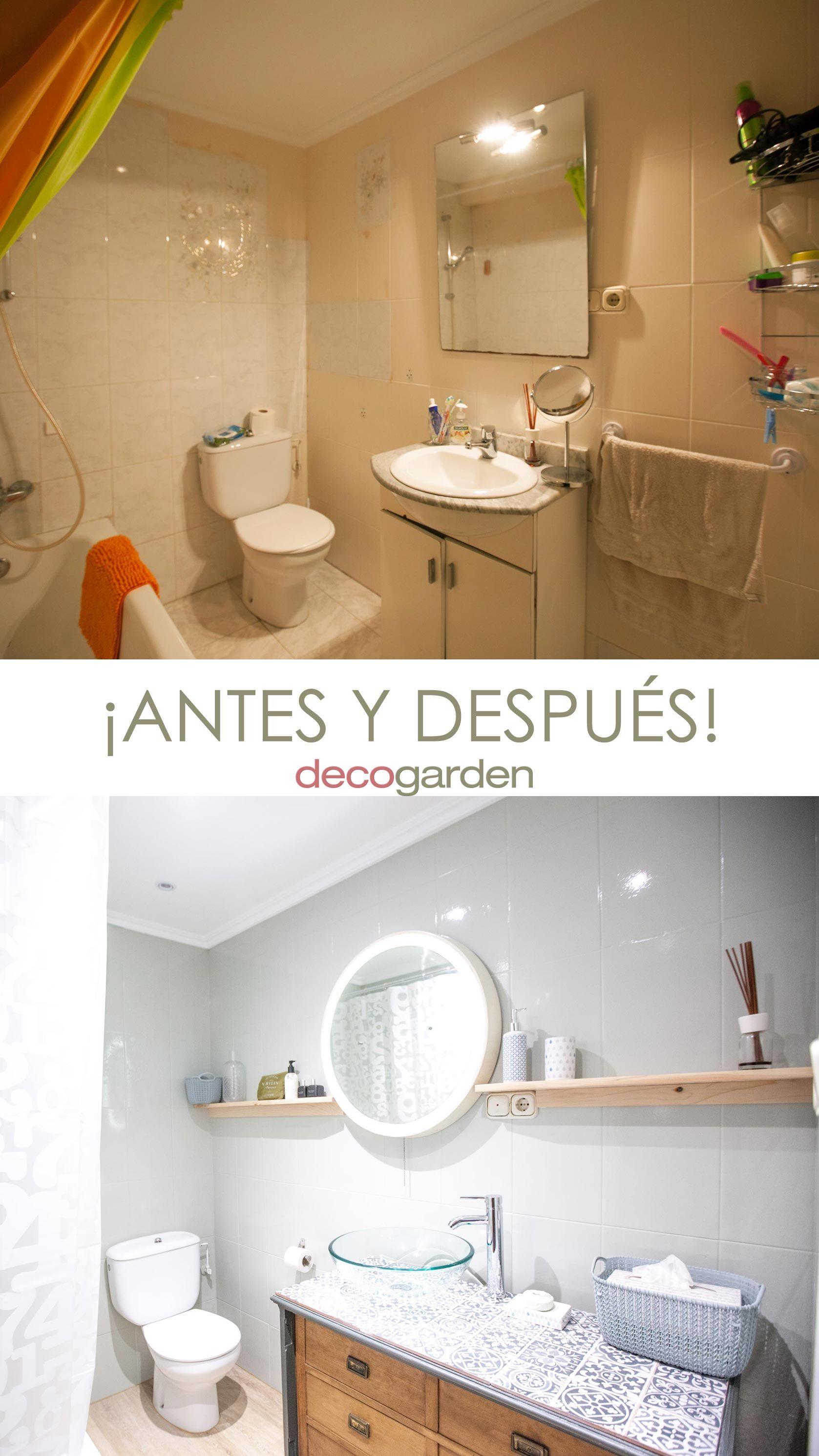 Renouveler le look de la salle de bain - avant et après