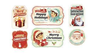 Autocollants de Noël de style vintage