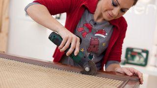 Étape par étape pour décorer une cheminée et une couronne de Noël - Étape 2