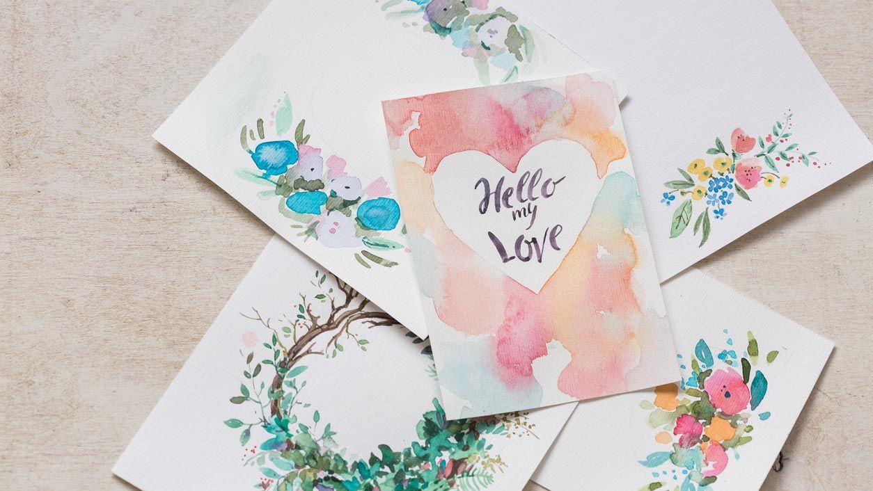 Aquarelles et lettrage pour la Saint Valentin