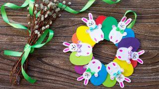 Couronne de lapin de Pâques à faire avec les enfants pendant la quarantaine - Étape 6