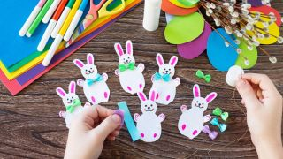 Couronne de lapin de Pâques à faire avec les enfants en quarantaine - Étape 4