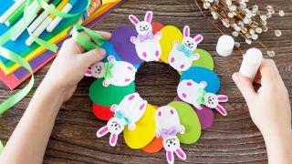 Couronne de lapin de Pâques à faire avec les enfants en quarantaine - Étape 5