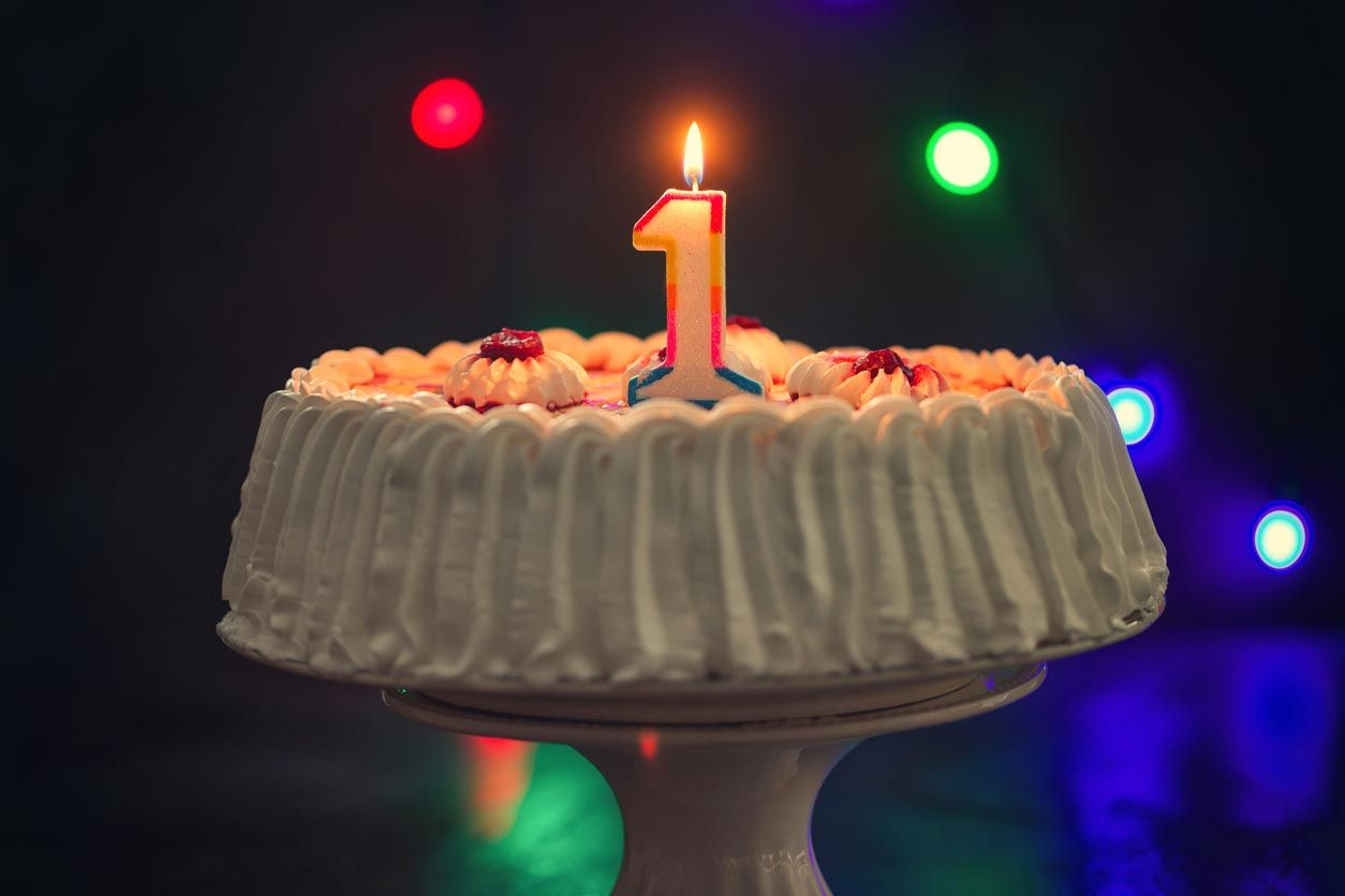 Bougie pour fêter le premier anniversaire de votre bébé.