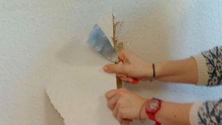 Retirer le papier peint fortement collé