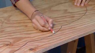 Créer des étagères en bois en forme de nuage - étape 1