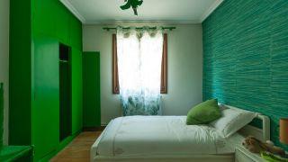 Décorez l'étude multifonctionnelle de couleur verte - avant