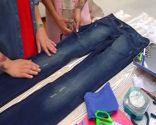 Mini jupe en jean