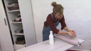 Comment tapisser un placard avec du vinyle - Étape 3