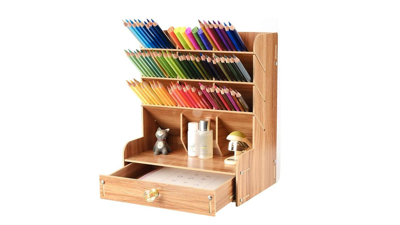 Organisateurs de bureau en bois
