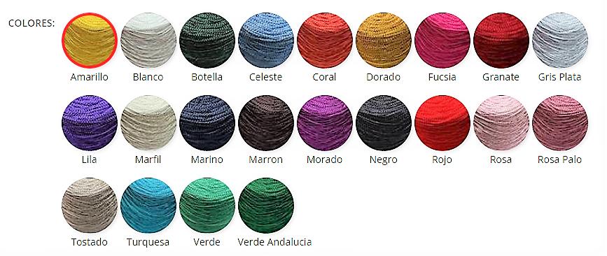 Palette chromatique des cônes cuquillos de Don Ovillo